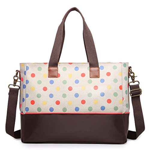 Miss Lulu Baby diapper Handtaschen Wickeltasche Polka Dot Mummy Baby Rucksack/Tote/Cross Body Taschen Khaki