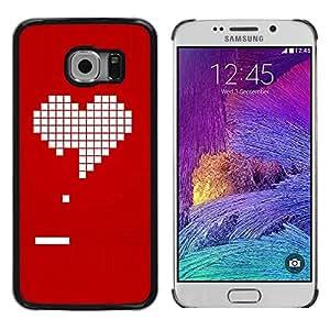 TopCaseStore / la caja del caucho duro de la cubierta de protección de la piel - Pc Game Gamer Girlfriend Love Valentines - Samsung Galaxy S6 EDGE SM-G925