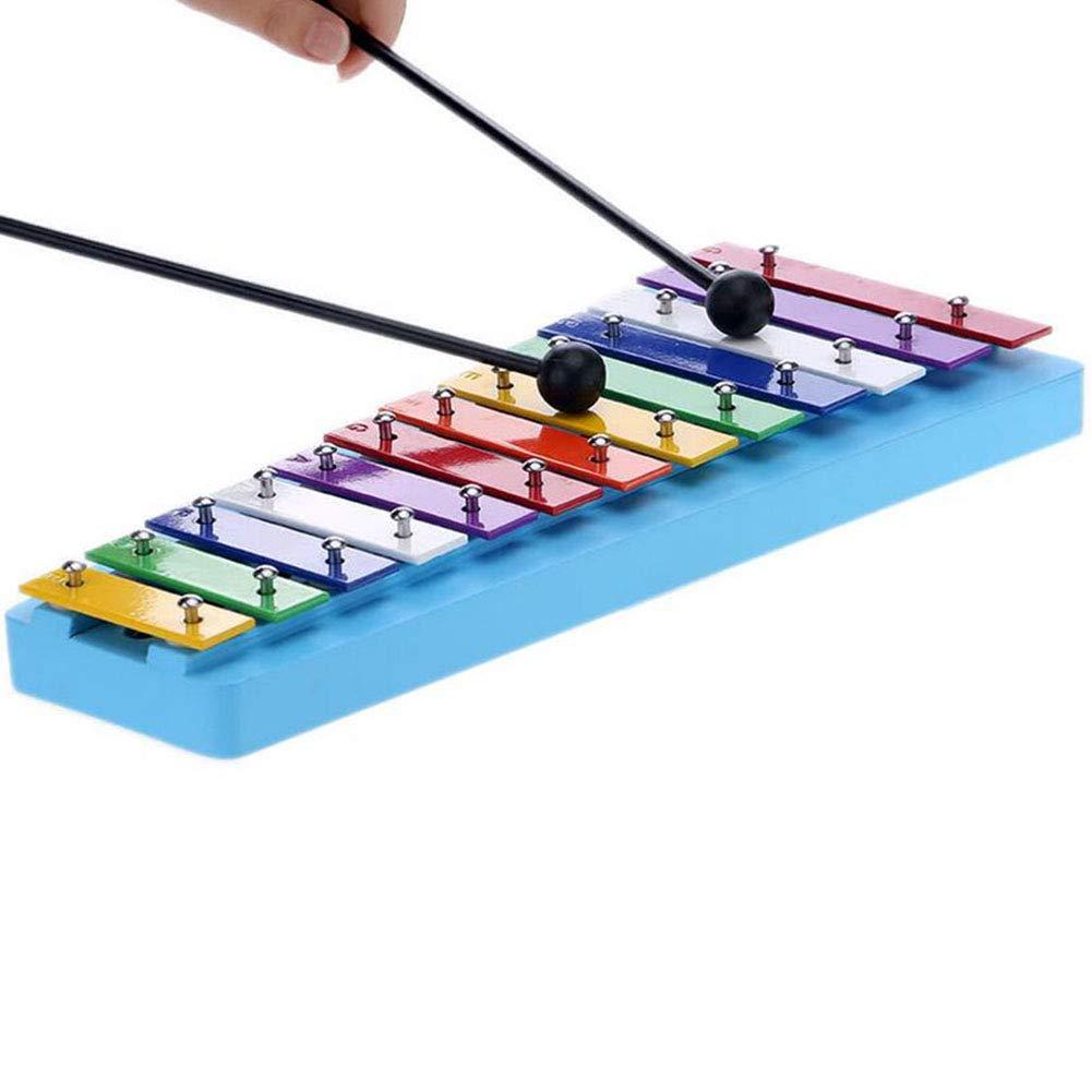 MAJGLGE 13 Note Color/é Maillets De Xylophone en Bois Percussion De Musique /Éducation Enfants Jouet Color/é