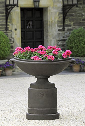 Medici Planter with Pedestal, Copper Bronze Finish Copper Pedestal Planter