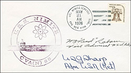 Vice Admiral William F.Red Raborn Jr. - Envelope Signed co-signed By: Admiral U.S. Grant Sharp