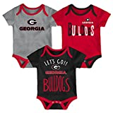 NCAA Georgia Bulldogs Newborn & Infant Little Tailgater Bodysuit, 0-3 Months, Red