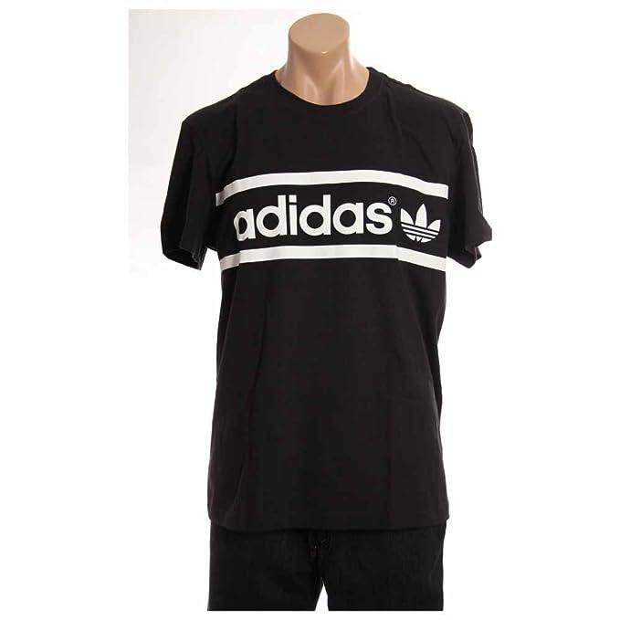 9af897aba17a1 Amazon.com: Adidas Logo Men`s Tee Shirt (XX-Large, Black / White / White):  Sports & Outdoors