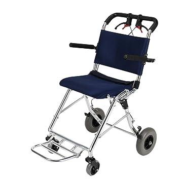Silla de ruedas Rampas Manual Plegable Personas Mayores Movilidad y luz Puede Llevar el avión Portaequipajes Ayudas para: Amazon.es: Hogar