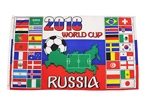 RUSSIA , FIFA World Cup 2018 - Countries Flags 3' x 5' Feet
