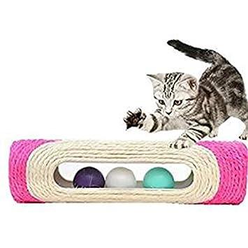 Queta Cat Rolling Juguete rascador Juguetes rascador Poste Gato Bolas Rodillo rascador Gato Tabla Juguetes Gatos: Amazon.es: Informática