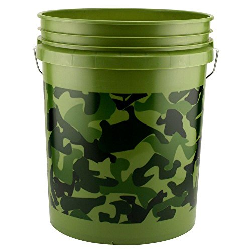 Pail,5-Gal Camouflage Plastic by Leaktite (Image #1)