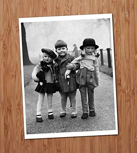 Creepy Cute Boy with Dolls Vintage Photo Art Print 8x10 Wall Art Halloween UNframed