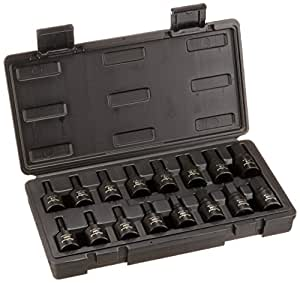 BLACKHAWK por Proto uh-1216cs unidad Hex Bit juego de llaves de vaso de impacto (, 1/5,08cm, 16piezas