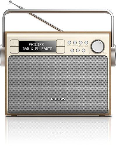 Philips AE5020/12 Radio (digitaler UKW-Tuner, DAB+, Akku-/Netzbetrieb, 3W RMS) braun