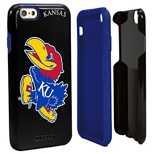 Guard Dog NCAA Kansas Jayhawks Hybrid IPhone 6 Case, Black, One Size