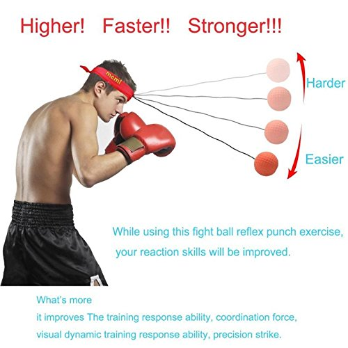 Boxing Reflex Ball Boxer Speed Reaction Punching Training Equipment Winter Portable Indoor Fitness Exerciss Sporting Bag for Adults Kids by Mandel (Image #6)