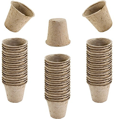 Kole/GardenDepot Pack of 60 Biodegradable Peat Pots Seed Planters, Seed Starting -