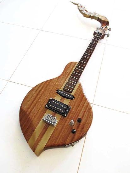 Isarn eléctrico Phin 3 cuerdas, Thai Lao guitarra instrumento musical, música tradicional tailandés Pin 30: Amazon.es: Instrumentos musicales