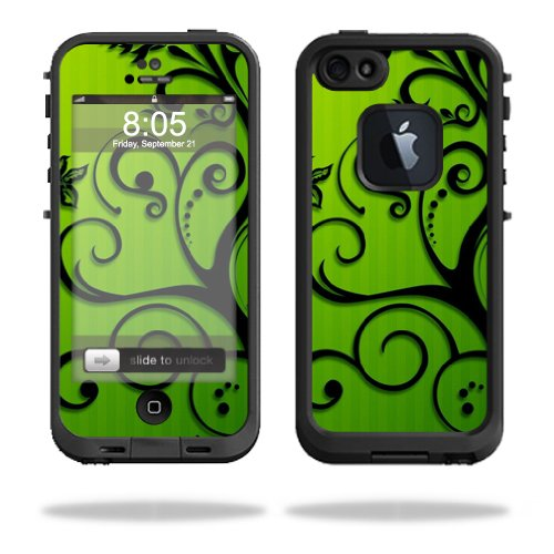 Mightyskins Protective Vinyl Skin Decal Cover for LifeProof iPhone 5 Case 1301 fre wrap sticker skins Floral Flourish