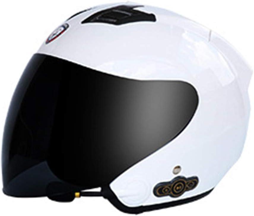 YQYL Adulte Casque de Moto Bluetooth 5.0 Casque st/ér/éo Casque int/égral de Moto Bluetooth int/égr/é int/égr/é 3000mAh Casque Bluetooth,A,XL
