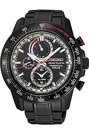 1931b4035 Image Unavailable. Image not available for. Color: Seiko Men's Sportura  Solar Perpetual Chronograph Watch