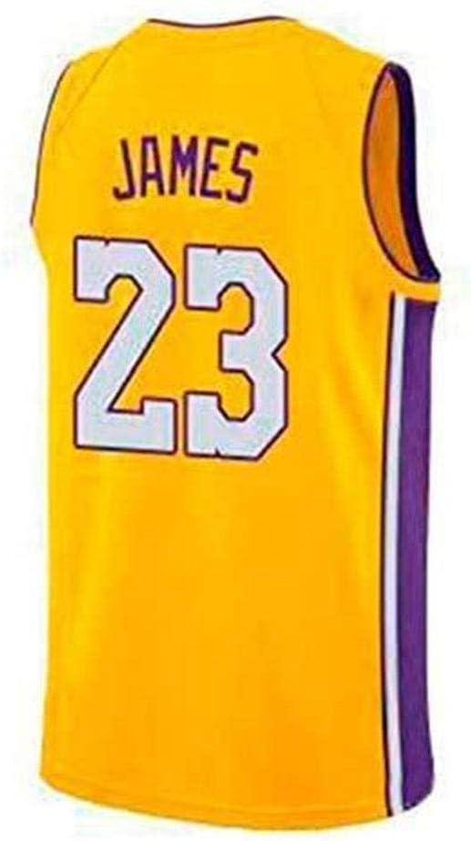 Ropa Deportiva HANHJ Camiseta De Baloncesto para Hombre-Lebron James Lakers # 23 Jersey Camiseta Sin Mangas Unisex Camiseta De Baloncesto Swingman De Malla Bordada