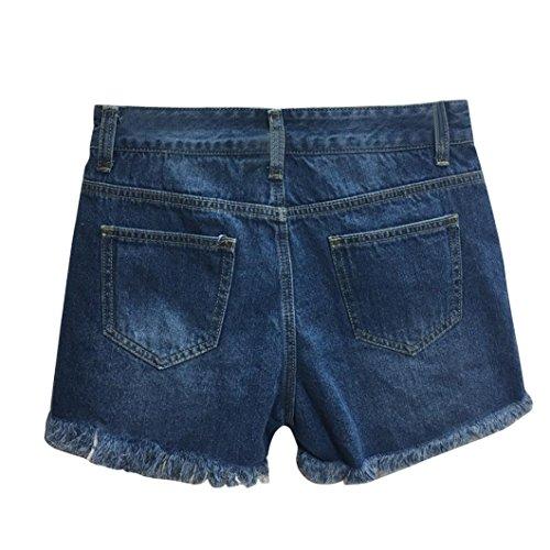 Alta Hot Luoluoluo Shorts Vintage Denim Short Corto Pants Sexy Pantaloni donna Pantaloncini Jeans Jeans A Vita Donna Blu Strappato Sexy qwq7cAFB