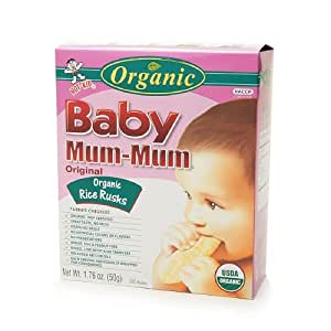Baby Mum-Mum Organic Rice Rusks, Original 24 ea: Amazon