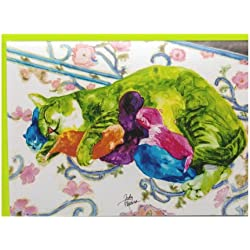 Rainbow Card Company Caustic Cats Mother's Day Card - Mama Cats