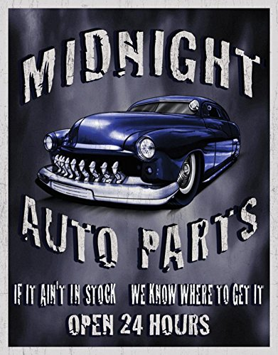 Legends - Midnight Auto Parts Tin Sign 12 x 16in