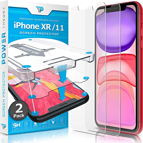 Power Theory for iPhone XR/iPhone 11 Screen Protector Tempered Glass [2-Pack] with Easy Install Kit [Case Friendly][6.1 Inch] from Power Theory