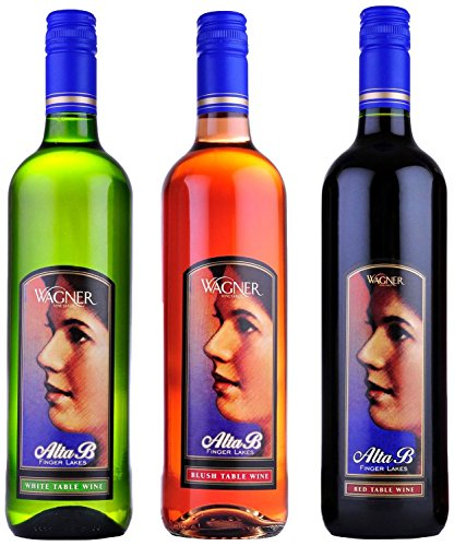 """Wagner Vineyards """"Mom's Choice"""" Alta Button Wagner's Variety Mixed Pack, 3 x 750 mL"""