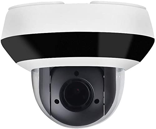 4MP Mini PTZ Security IP Camera Dome,OEM DS-2DE2A404IW-DE3,4X Optical Zoom 2.8mm 12mm,Surveillance Camera Dome with IR Night Vision 66ft,SD Recording,Audio Input Output,IP66,IK10,H.265