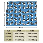 """WdRaIn Border Collie Dog Cute Blanket Flannel Fleece Blanket Soft Microfiber Blanket for Sofa Office Bed and Travelling 60""""x50"""" 8"""