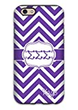 Sigma Sigma Sigma Sorority Gift Idea - Case Fits Iphone 6 Case - Purple Chevron with Tri Sigma - Monogram Protective Cover for the Iphone, Big Sister Gift