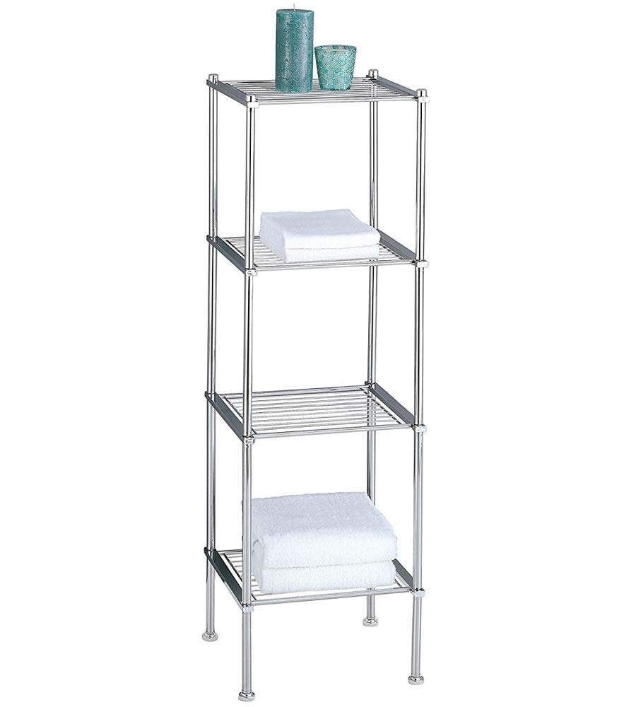 MD Group Metro Four-Tier Chrome Bath Shelf, 41.25'' x 12.25'' x 16 lbs