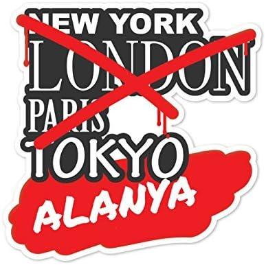 London ALANYA JOllify Aufkleber Farbe: Design: New York Paris Tokyo