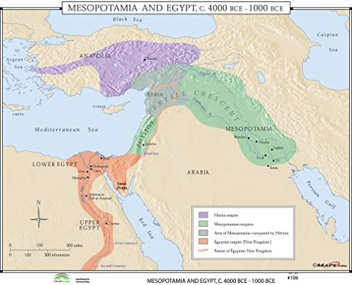 Mesopotamia & Egypt (World History Wall Maps): Maps.com ...