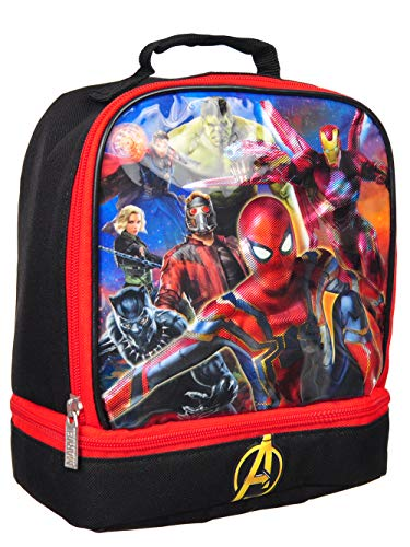 Marvel Avengers Captain America Superheroes Dual Insulated Lunch Box - Lunchbox