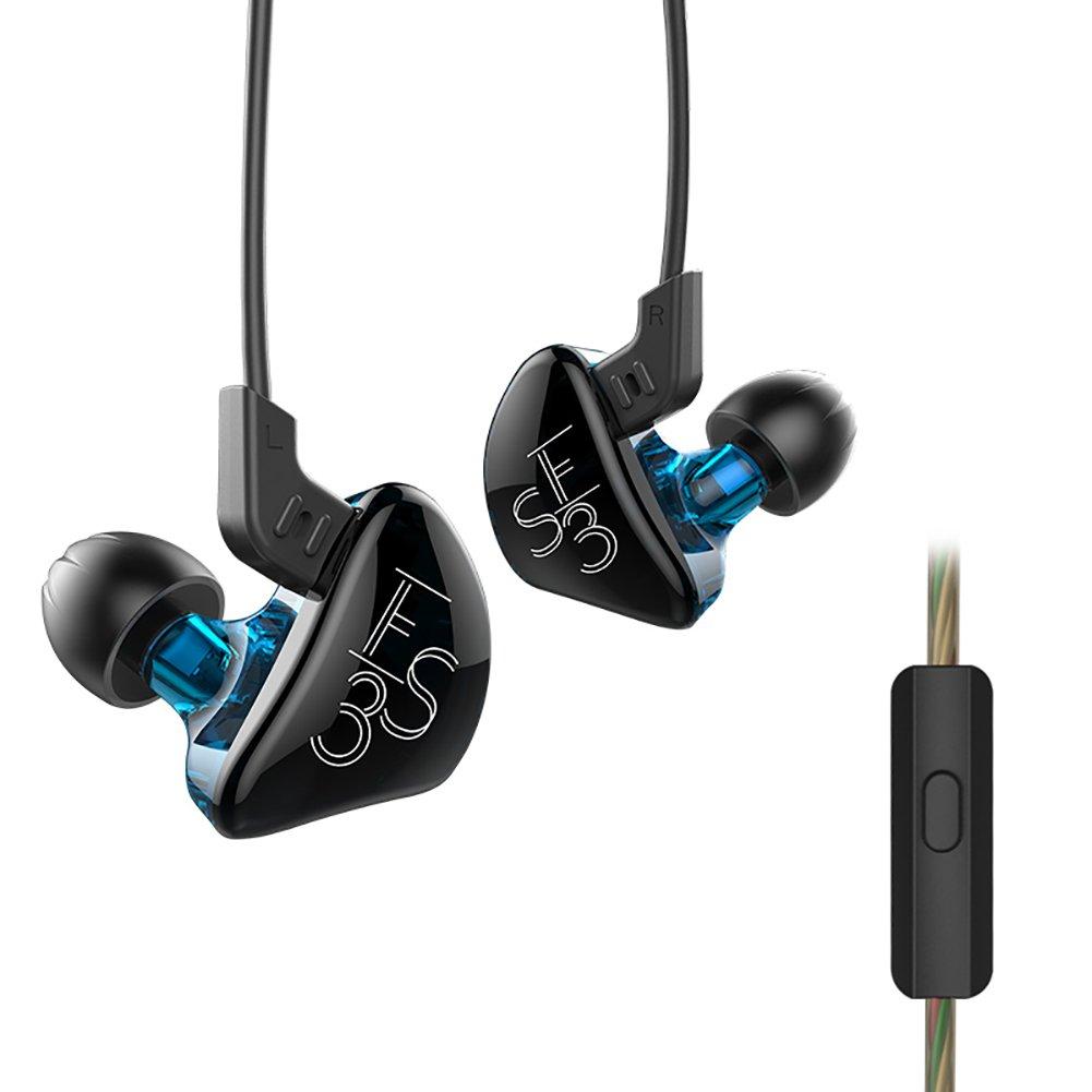 KZ ES3 Dynamic Hybrid Dual Driver En Oreja Auriculares con Cable Desmontable: Amazon.es: Electrónica
