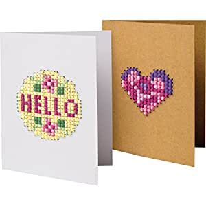 """Greeting Card Fronts Punched For Cross Stitch-4.75""""X3.5"""" 6/Pkg"""