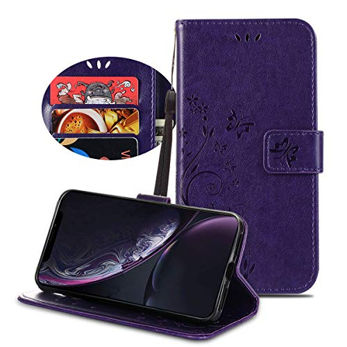 BeautyWill iPhone XR Wallet Case Card Holder PU Leather Full Protection Cover for iPhone Ten R ()