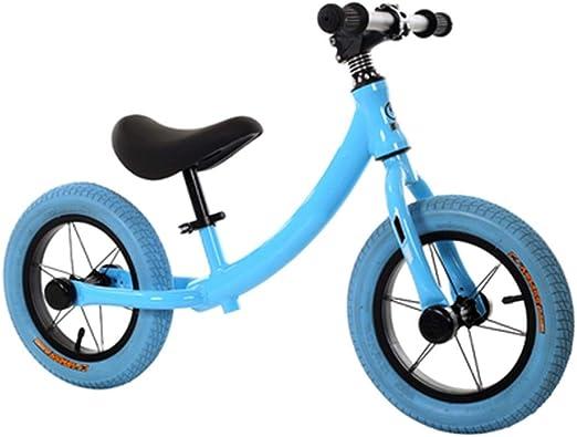 YUMEIGE Bicicletas sin Pedales Bicicletas sin Pedales 1-7 Años, 2.2 Kg De Carga 50 Kg, Bicicleta de Equilibrio para niños Adecuado For Altura 31.4-51.1 Pulgadas, Asiento Ajustable (Color : Blue): Amazon.es: Jardín
