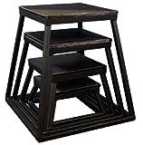 Ader Black Plyometric Platform Box (6-24'' 4 Pcs Black)