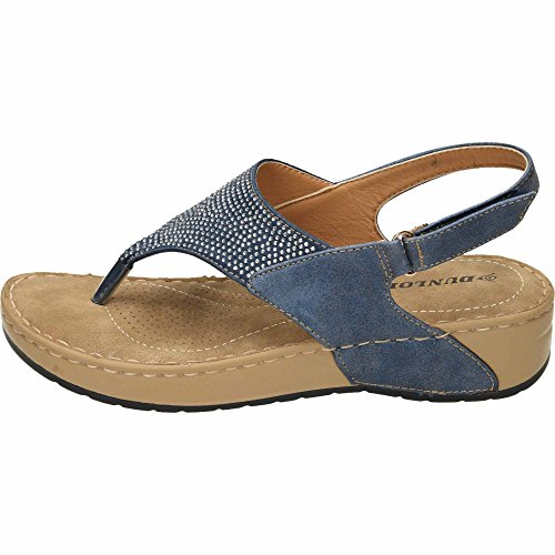 Dunlop Wedge Slingback Toe Post Cushioned Sandals Blue vazCNN6M