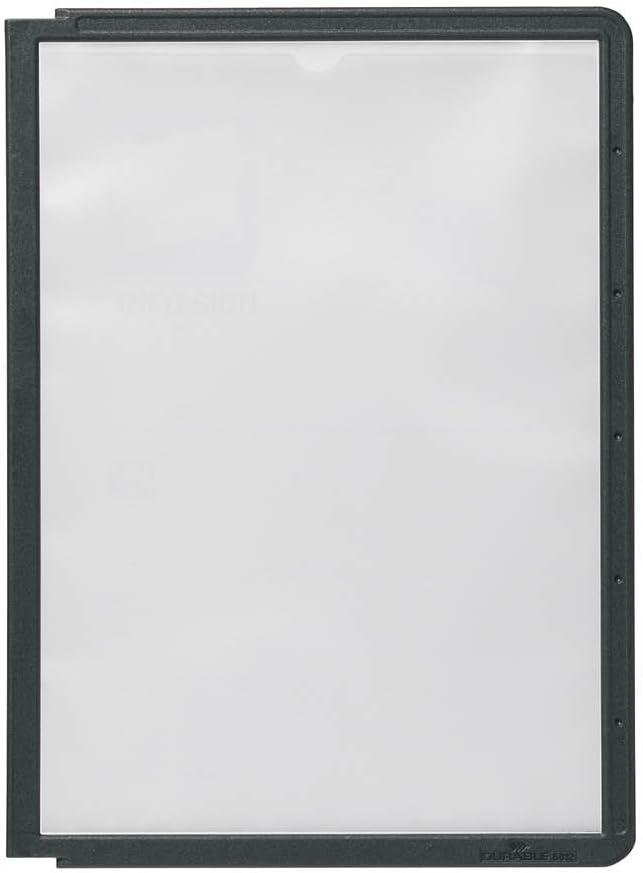 Nero Pannelli Display Sherpa A5 Durable 581201 5 Pezzi