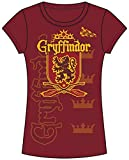 Disney Adult Junior Fashion Top Harry Potter Team Gryffindor Red (X-Large)