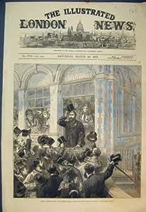 Impresión Antigua del Príncipe 1873 de las Razas de Bristol de la Caza de Grand National País De Gales