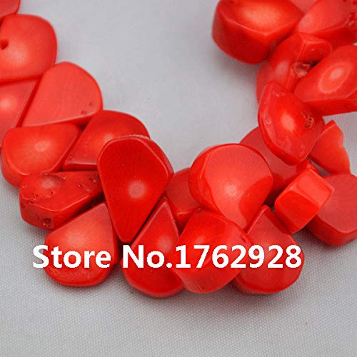 Calvas Stunning Orange Charm Coral Beads 16inches One Full Strand Melon Seeds Coral Jewelry Wholesale Jewelry ()