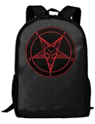 Satanic Symbol Star Interest Print Custom Unique Casual Backpack School Bag Travel Daypack Gift