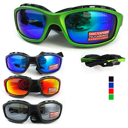 Kitesurfing Kiteboarding Men Sunglasses Sports Black UV400 Fashion Shades Wrap - Kitesurfing Sunglasses
