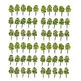 MonkeyJack Pack of 60pcs Model Trees 1:100 HO OO Scale Building Park Landscape Scenery