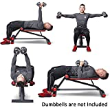 Cheap HARISON Adjustable Weight Bench,Flat Incline Bench for Strength Training,Heavy Duty Bench with Dumbbell Rack,Compact Design,Easy to Assemble and Different Positions for Over 30 Different Exercises