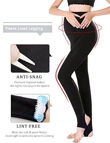 e5b94906c9890 OLCHEE Women's Maternity Pregnancy Tights Warm Fleece Lined Legging Black
